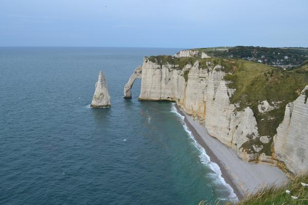 法國諾曼地的象鼻山 (Etretat)海濱