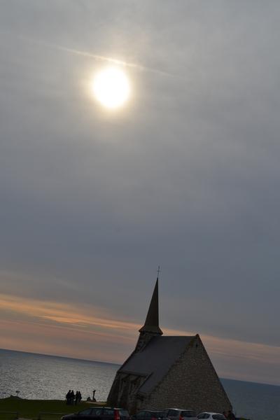 Etretat(象鼻山) 小教堂的黃昏