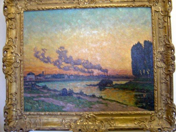 愛芙利的日落Armand Guillaumin-Soleil couchant a Ivry