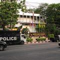 東羅警局 (看到右邊的貨卡警車嗎?? 曼谷似乎很流行這種車款)