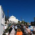 好大一座天主教堂 不過不開放參觀 這是目前希臘行中 看過最大的