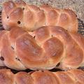 辮子形葡萄乾麵包