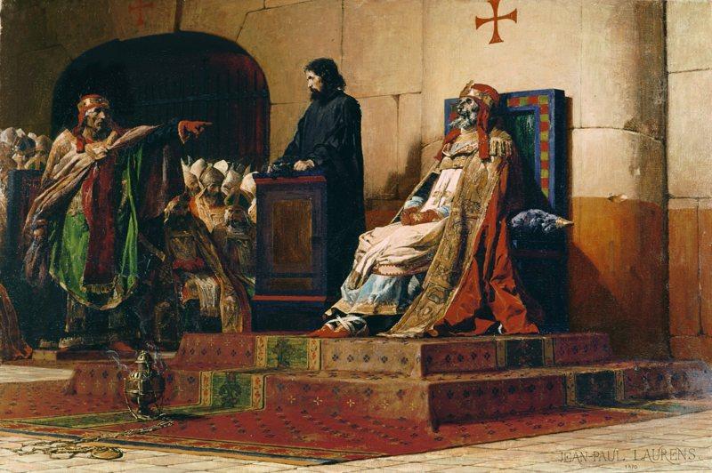 wiki殭屍審判,亦稱「殭屍會議」(拉丁語:Synodus Horrenda)是西元897年1月在拉特朗聖若望大殿舉行的一場對已故羅馬天主教教宗福慕(Formosus)遺體的宗教會議。[1]審判由福慕的繼任者斯德望六世。斯德望六世指控福慕犯有偽證罪,而宣告福慕的當選為非法。在審判結束之後,剝奪其前任教宗身份,撤銷他所發布的教令,砍掉他用以主持聖禮的手指。 屍體被投入墓穴,後又被投入台伯河。殭屍審判作為中世紀教廷最為聳人聽聞的片段之一而載入史冊。