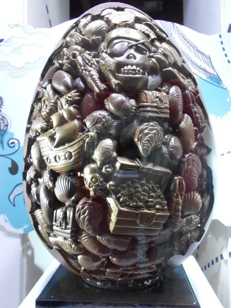 櫥窗擺飾---巧克力雕刻