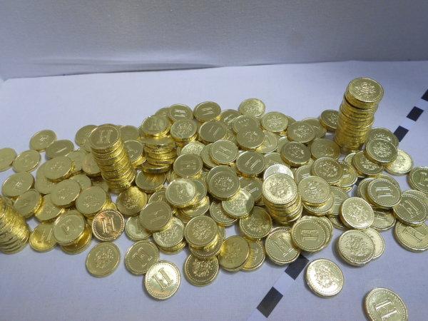 櫥窗擺飾---巧克力金幣