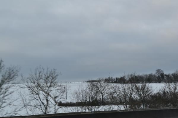 高速公路旁積雪