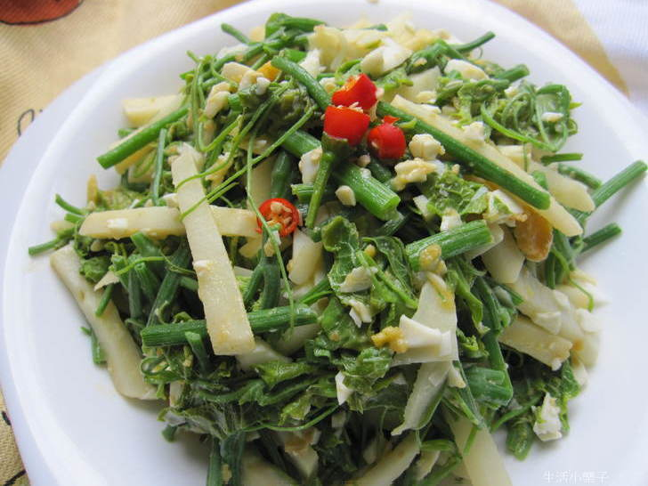 金砂龍鬚菜綠竹筍