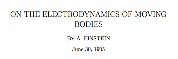 on the electrodynamics of moving bodies einstein pdf