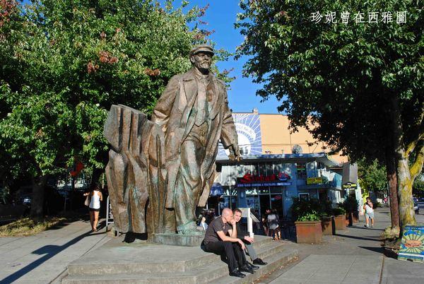 西雅圖飛夢社區的列寧銅像