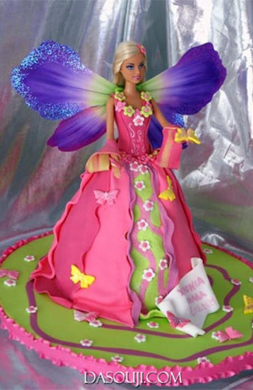 Jasmine Birthday Cake With Barbie