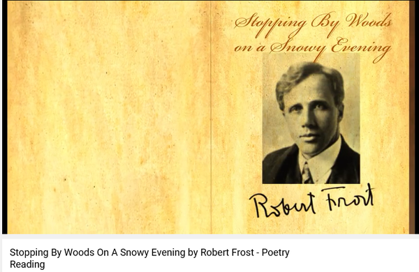 robert frost s stopping woods snowy evening william wordsw