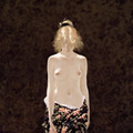Walking Nude with Floral Drape ////neil R O D G E R