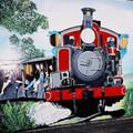 (267)墨爾本-丹頓農區古董蒸汽火車圖板