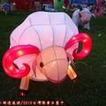 (002)草地上綿羊花燈