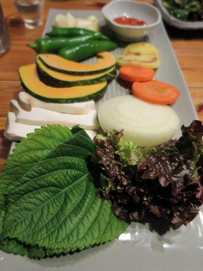 蔬菜盤先來