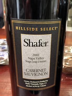 2001 Shafer Hillside Select