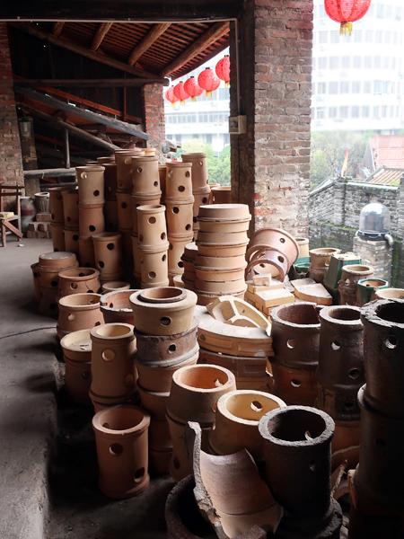 為工廠煅燒園林植栽用的盆缽等產品