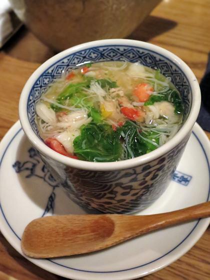 蟹肉百合根茶碗蒸