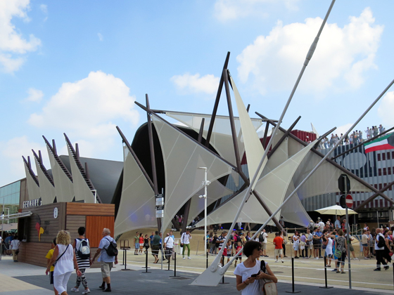 風帆造型的科威特館