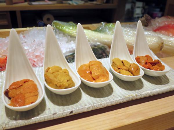 五種日本產海膽品嚐套組
