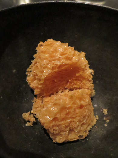 Scallop dried for two days, beech nuts and kelp