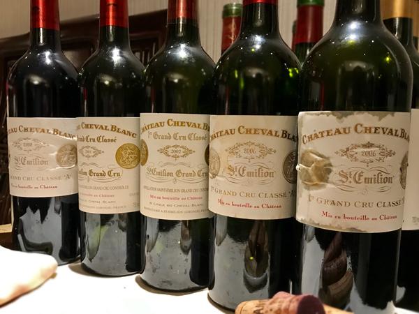Cheval Blanc vertical tasting
