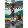 台東金崙 鹿頭路燈。 燈柱和基座雕飾著原住民圖案,我喜歡。