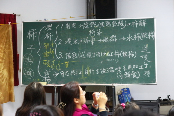 """甜柿原本只有日本才有栽種,現今也成功被引進到台灣栽種。澀柿則是台灣原有的品種。劉老闆他說因為澀柿是果實未完全成熟就進行採收,所以非常的""""澀"""",如果成熟後再採收,澀柿其實也是甜的。"""
