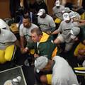 20110124綠灣包裝工總教練Mike McCarthy率領球隊禱告感恩拿到隊史十度國聯冠軍