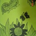 花與蝴蝶(線畫)