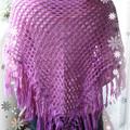紫三角披肩