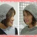 灰色貝蕾帽