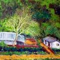 油畫創作--等待春天
