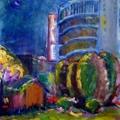 油畫創作--敦南夜色