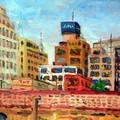 油畫創作--那霸市區
