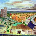 油畫創作--那霸郊區