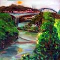 油畫創作--圓山橋