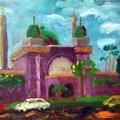 油畫創作--清真寺