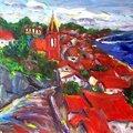 油畫創作 - 淡水教堂