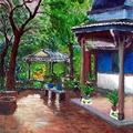 油畫創作--林家花園1
