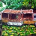 油畫創作--林家花園2