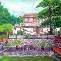 油畫創作--林家花園3