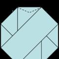 八角紙星星10