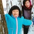 1986.12 第一次賞雪 恰恰30歲 女兒6歲