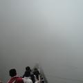 當天霧氣籠罩整個山麓,能見度極低.想望了一年的竹山天梯...我終於來了. 但狀況就如同相片裡迷濛的仙境一般,我痛苦的快往生了.而且當下一路辛苦走來卻因霧茫茫的看不到太極峽谷的我好想哭喔!