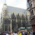 聖史第芬大教堂是維也納的地標,其高聳入雲端的哥德式尖塔式造形,非常的雄偉壯觀.