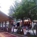 梅子亭與冰果店。