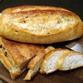 焦糖栗子醬鄉村麵包一次做兩條 熱呼呼地出爐囉 ^^ 真是金光萬丈 瑞氣千條哇 ^^