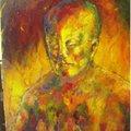 烈火灼身 20號油畫  72.5 X 60.5公分