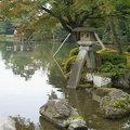 兼六園就是前田利家的後花園。金澤的兼六園與水戶的偕樂園、岡山的後樂園並稱日本三大名園